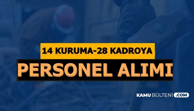 14 Kurumda 28 Kadroya Personel Alımı-İŞKUR 22 Ekim 2019 Güncel Kamu İlanları