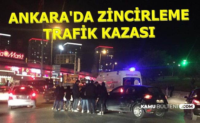 Ankara Yenimahalle'de Zincirleme Kaza: Yaralılar Var