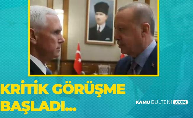 Cumhurbaşkanı Erdoğan, Mike Pence İle Görüşüyor! İşte İlk Fotoğraflar