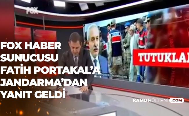 Fox Haber Sunucusu Fatih Portakal'a Jandarma Genel Komutanlığı'ndan Videolu Yanıt