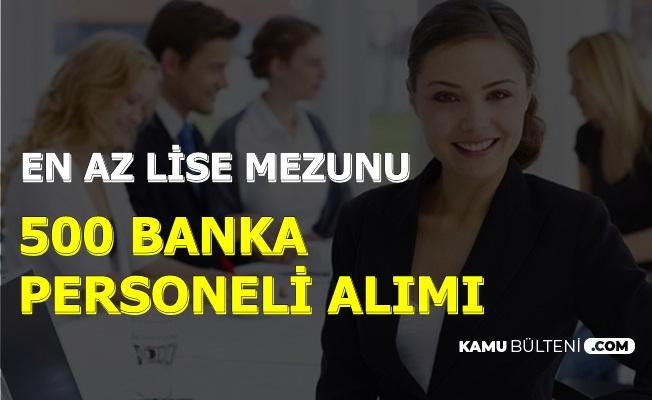İŞKUR'dan 500 Banka Personeli Alımı-En Az Lise Mezunu