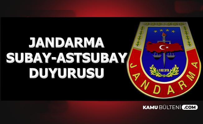 Jandarma Kadın-Erkek Subay Astsubay Duyurusu