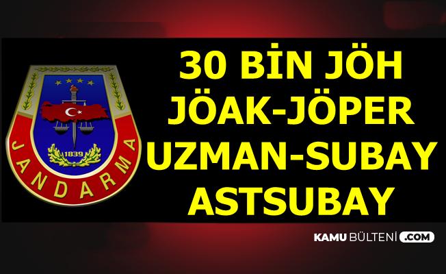 Jandarma'dan 30 Bin Uzman Erbaş-JÖAK-JÖPER-JÖH Alımı Açıklaması