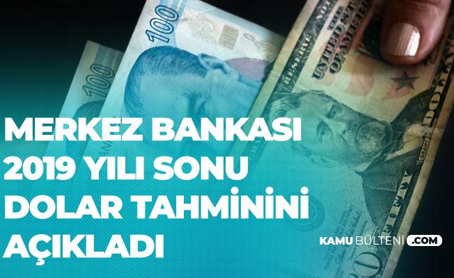 Merkez Bankası'nın 2019 Sonu Dolar Tahmini Açıklandı