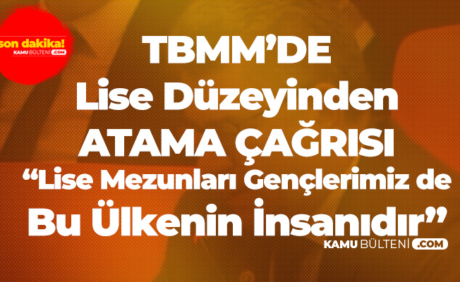 MHP'li Sefer Aycan'dan Atama Çağrısı: Lise Mezunu Gençlerimiz de Bu Ülkenin İnsanıdır