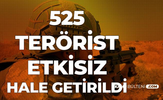 MSB'den Açıklama: 525 Terörist Etkisiz Hale Getirildi