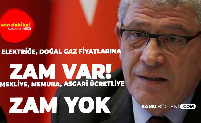 Müsavat Dervişoğlu: Elektriğe Yüzde 60, Doğalgaz'a Yüzde 52 Ama Memur ve Emekliye Yüzde 5, İşçilere Yüzde 4 Zam Yapıldı