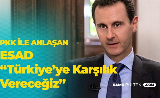 PKK ile Anlaşan Esad'tan İlk Açıklama: Türkiye'nin Saldırganlığına Karşı Verilecek