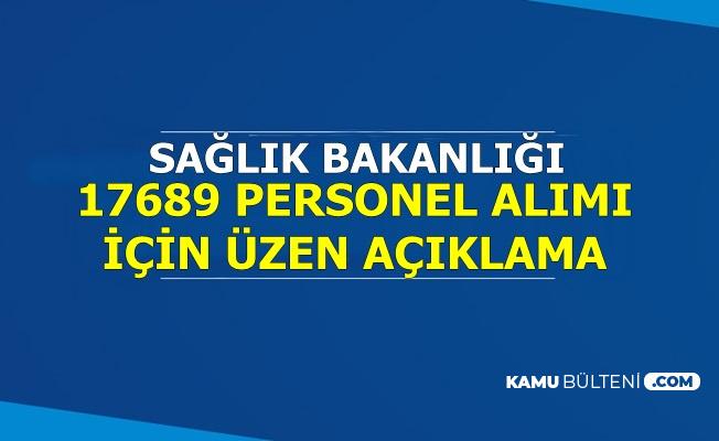 Sağlık Bakanlığı 17 Bin 689 Kamu Personeli Alımı İçin Üzen Açıklama
