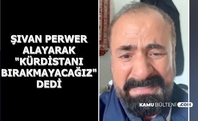 Şıvan Perver Ağlayarak Suriye'ye Girmeyin Videosu Yayınladı