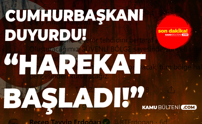 Son Dakika! Barış Pınarı Harekatı Başladı!