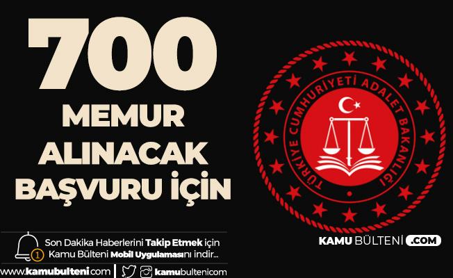Adalet Bakanlığı 700 Memur Alımında Başvuru Yapamayanlar için Son Şans