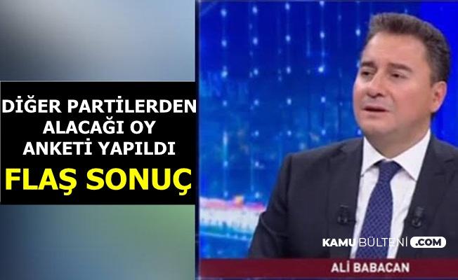 Ali Babacan Diğer Partilerden Ne Kadar Oy Alacak? Flaş Anketin Sonucu Açıklandı