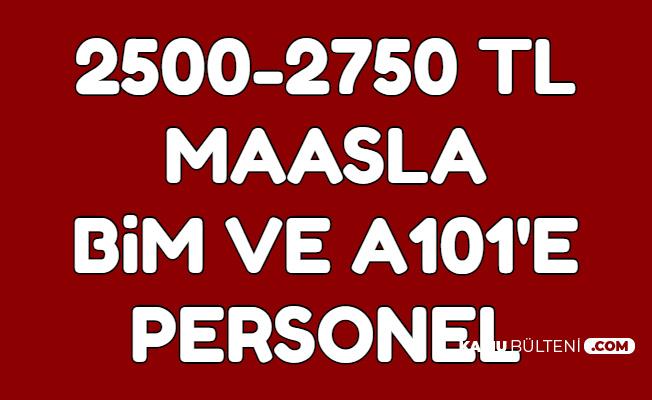 BİM ve A101 2500-2750 TL Maaşla Personel Alımı-İŞKUR ve Kariyer İlanları