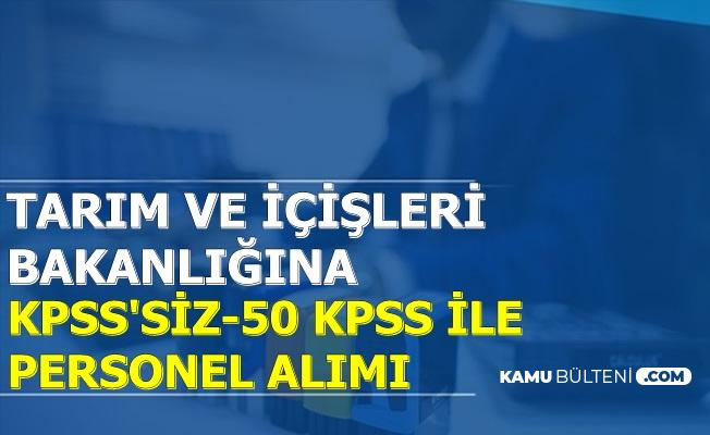 İki Bakanlığa KPSS'siz ve 50 KPSS ile 648 Kamu Personel Alımı-İnternetten Başvuru