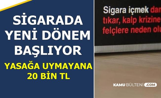 Sigarada Yeni Yasak Geliyor.. Uymayana 20 Bin TL Ceza