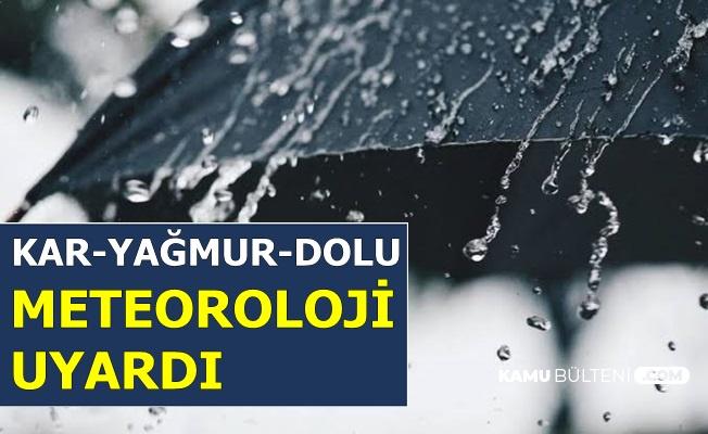 Yağmur-Kar-Dolu: Meteoroloji Bu Şehirleri Uyardı (27 Kasım 2019 Hava Durumu)
