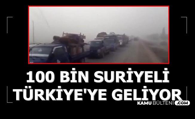 100 Bin Suriyeli Türkiye Sınırına Geldi