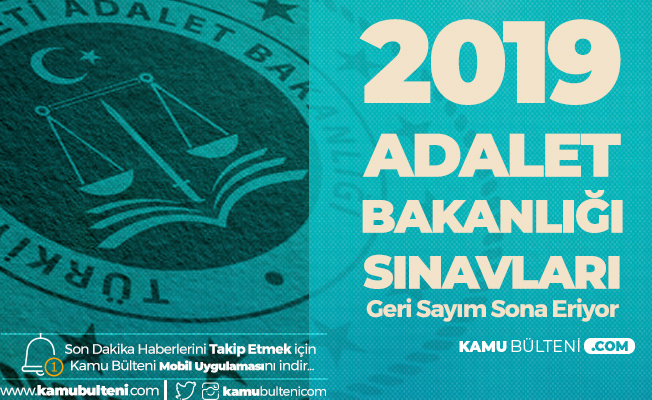 Adalet Bakanlığı Sınavları (1300 Personel Alımı) 29 Aralık'ta Uygulanacak