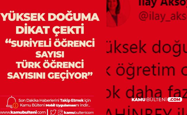 Aksoy: Bazı Okullarda Suriyeli Öğrenci Sayısı Türk Öğrenci Sayısını Geçti