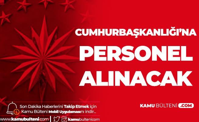 Cumhurbaşkanlığı'na Sözleşmeli Personel Alımı için Başvurular 13 Aralık'ta Son Bulacak