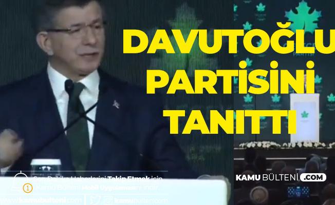 Davutoğlu Partisini Tanıttı ! Eski Başbakan Ahmet Davutoğlu'nun Partisi'nin İsmi Gelecek Partisi, Logosu Çınar Yaprağı Oldu