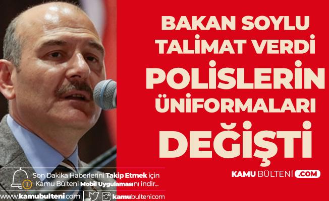 İçişleri Bakanı'ndan Talimat Geldi! Polislerin Üniformaları Değiştirildi
