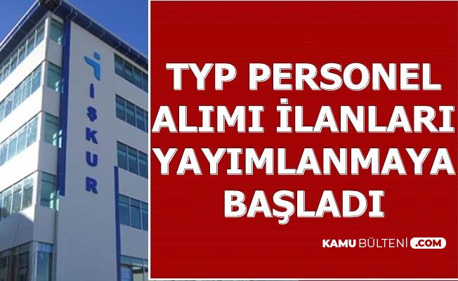 İŞKUR'da TYP İlanları Yayımlanmaya Başladı