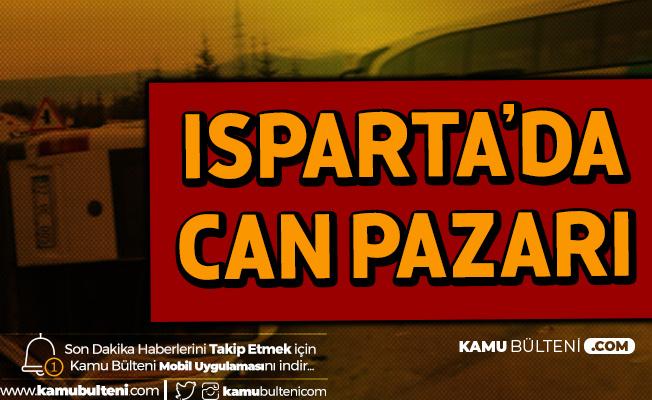 Isparta'da Korkunç Kaza! 15 Yaralı Var
