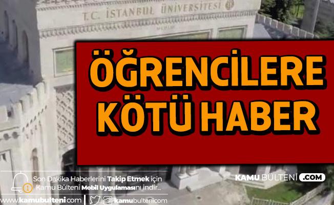 İstanbul Üniversitesi'nde Kahvaltı Kalktı, Öğrenci İndirimleri Tek Öğün Olacak