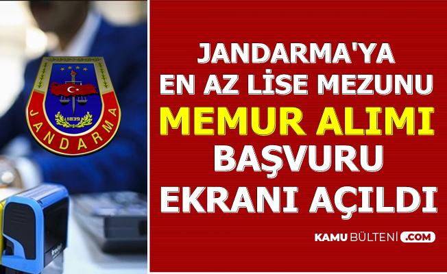 Jandarma En Az Lise Mezunu Sivil Memur Alımı Başvurusu Başladı (Personel Temin Başvuru Linki 2019)