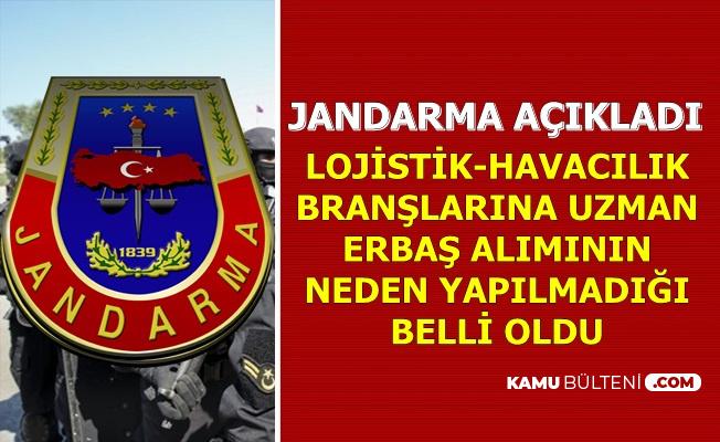 Jandarma 2019 İlkokul Mezunu Uzman Erbaş Alımının Neden Yapılmadığını Açıkladı