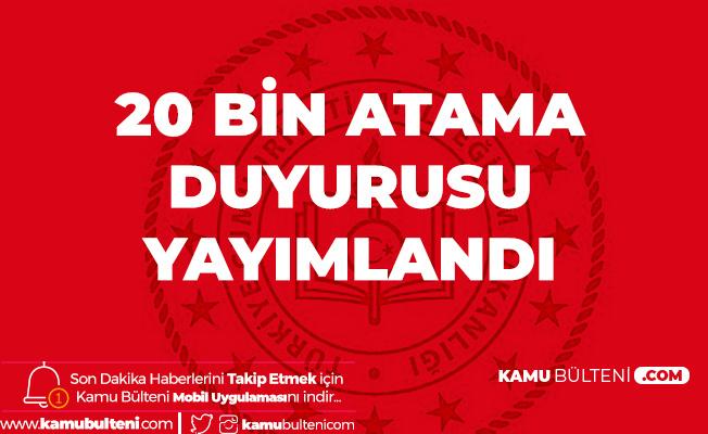 MEB 20 Bin Sözleşmeli Öğretmen AtamaDuyurusu Yayımlandı! (2020 Öğretmen Ataması Başvuru Kılavuzu)