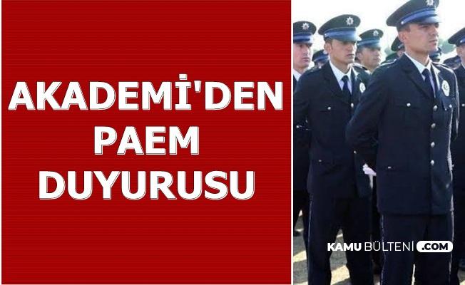 Polis Akademisi'nden 4. Dönem PAEM Duyurusu 2019