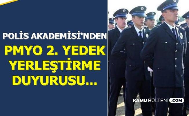 Polis Akademisi, PMYO 2. Yedek Duyurusunu Yayımladı