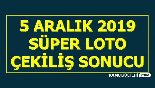Son Dakika.. Devirli Süper Loto 5 Aralık 2019 Çekiliş Sonuçları