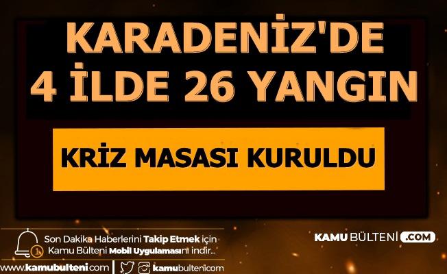 Son Dakika... Trabzon, Giresun, Artvin ve Ordu'da 26 Yangın Çıktı