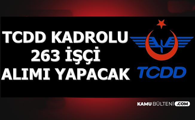 TCDD Kadrolu 263 İşçi Alımı Yapacak