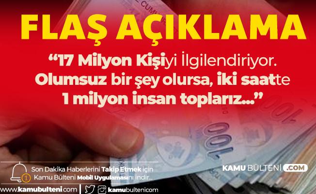 Türk İş Genel Başkanı Atalay'dan Kıdem Tazminatı Çıkışı: 2 Saatte 1 Milyon Kişiyi Toplarız