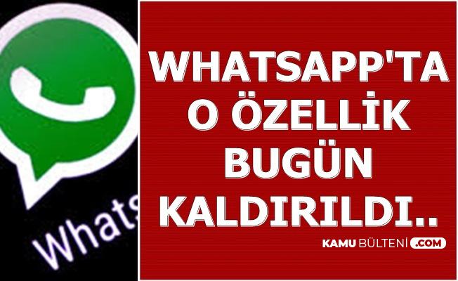 WhatsApp'ta Toplu Mesaj Özelliği Kaldırıldı
