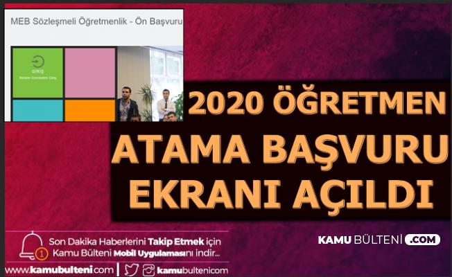 2020 Sözleşmeli Öğretmenlik Başvuru Ekranı Açıldı (İlkatama.meb.gov.tr)