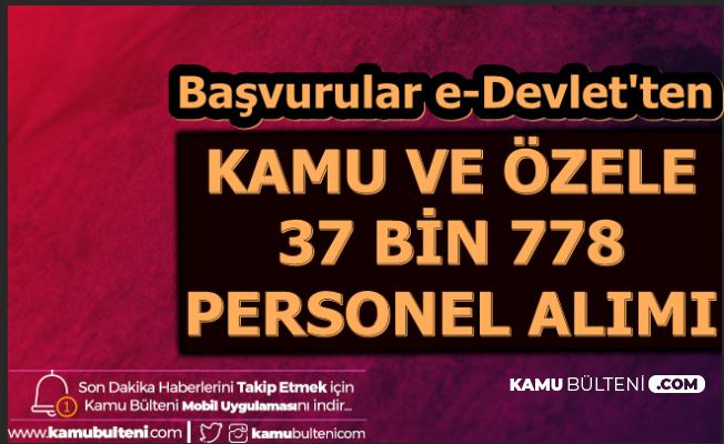 37 Bin 778 Personel Alımı Başvurusu E-Devlet'ten (İŞKUR Kamu ve Özel İlanları)