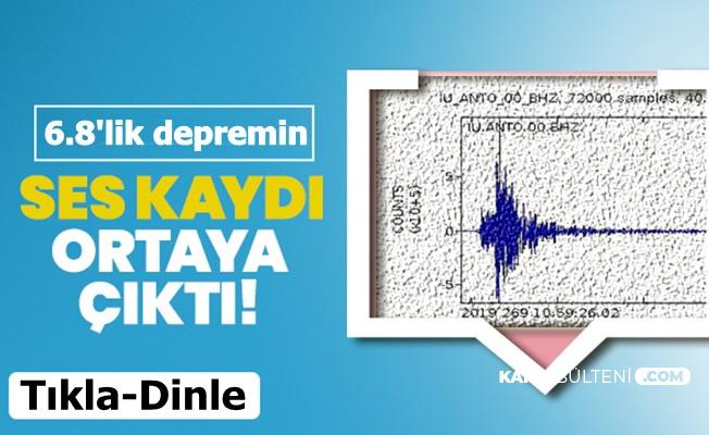 6,8'lik Elazığ Depreminin Ürkütücü Yeraltı Ses Kaydı Ortaya Çıktı
