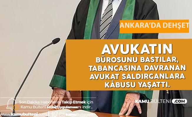 Ankara'da Avukat ve Müvekkil Yakınları Birbirine Girdi! Silahlar Çekildi...
