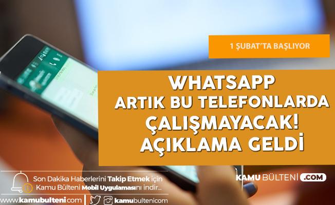 Bu Telefonlarda Whatsapp 1 Şubat 2020'de Kullanılamayacak!