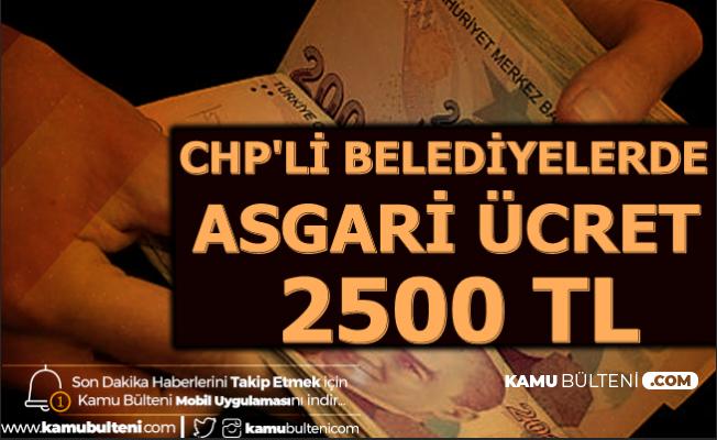 CHP'li Belediyelerde 2020 Asgari Ücret Zammı Belli Oldu