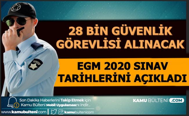 EGM ÖGG 2020 Sınav Tarihlerini Açıkladı: 28 Bin Güvenlik Görevlisi Alımı Yapılacak