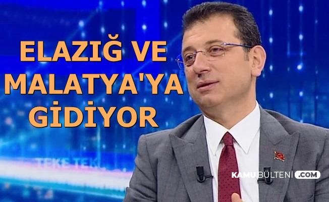 Ekrem İmamoğlu ile Dilek İmamoğlu Elazığ ve Malatya'ya Gidiyor