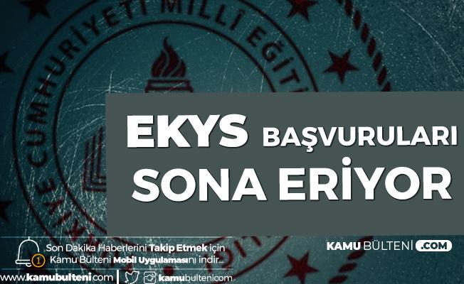 EKYS Başvuruları Son Buluyor! Sınav 15 Mart'ta Uygulanacak