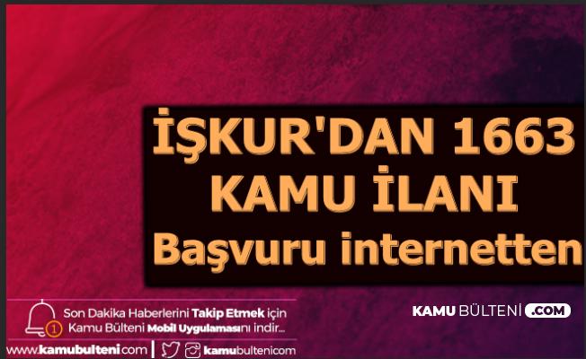 İŞKUR'dan 1663 Kamu İlanı: Başvuru İnternetten